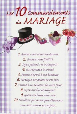 Texte carte voeux mariage