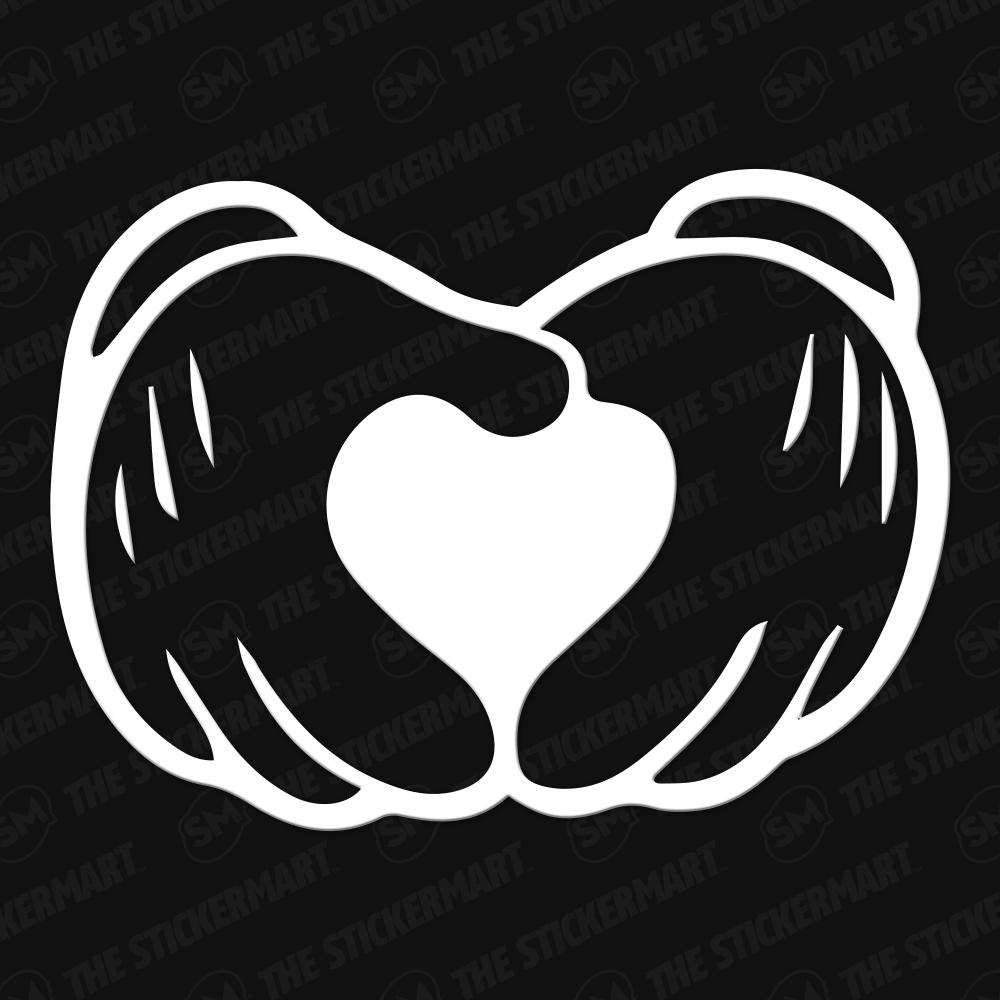 Disney Mickey Mouse Hands Heart Vinyl Decal Disney