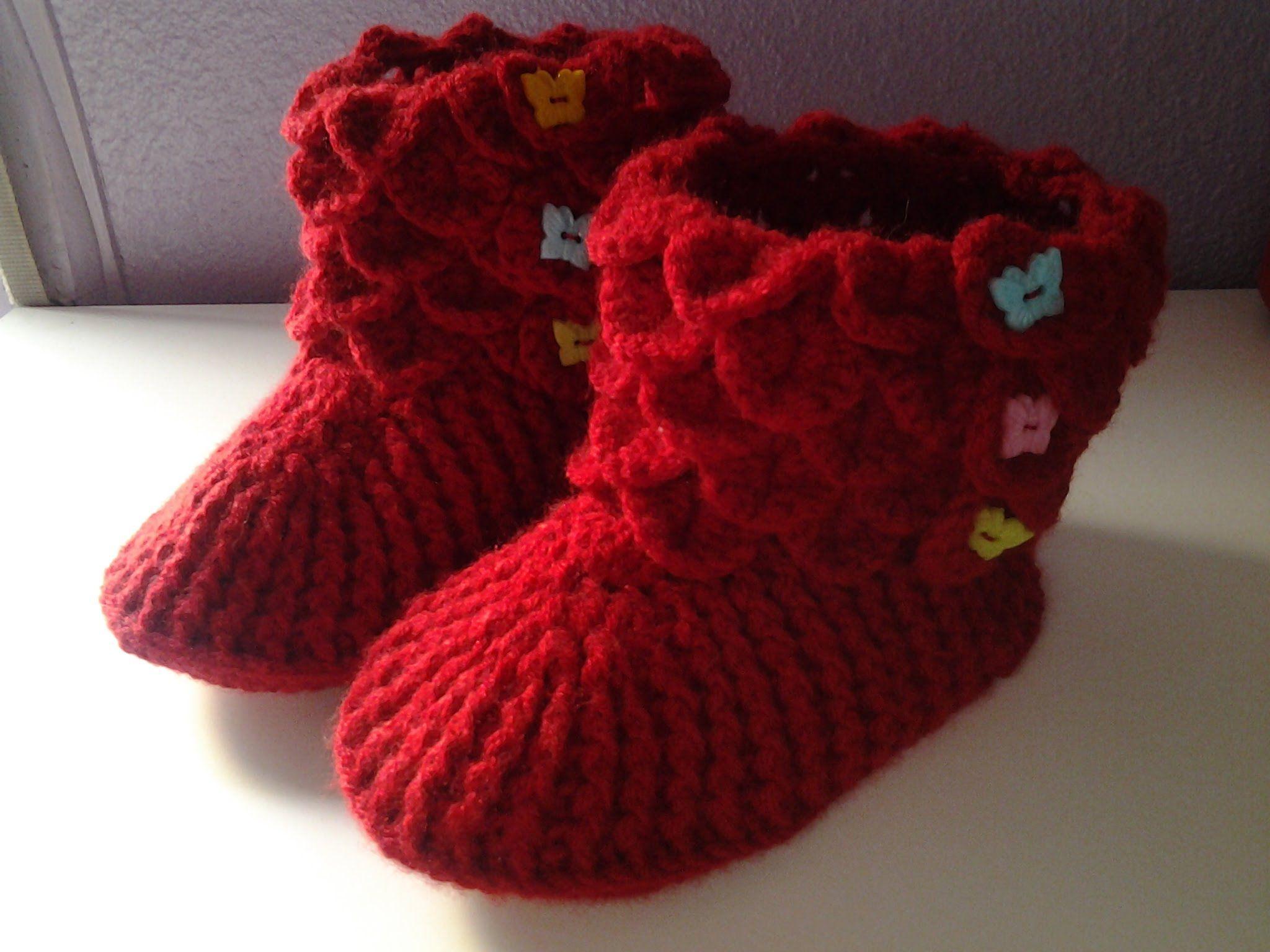 Botines cocodrilo a crochet (ganchillo) 1 # tutorial DIY ...