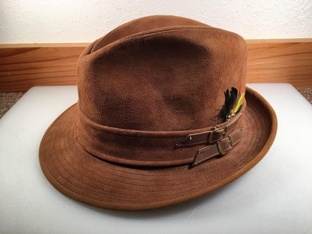 4a2f43a73db44 VINTAGE CAVANAGH NEW YORK SUEDE BROWN FEDORA HAT MENS Size 7  fashion   clothing  shoes  accessories  vintage  vintageaccessories (ebay link)