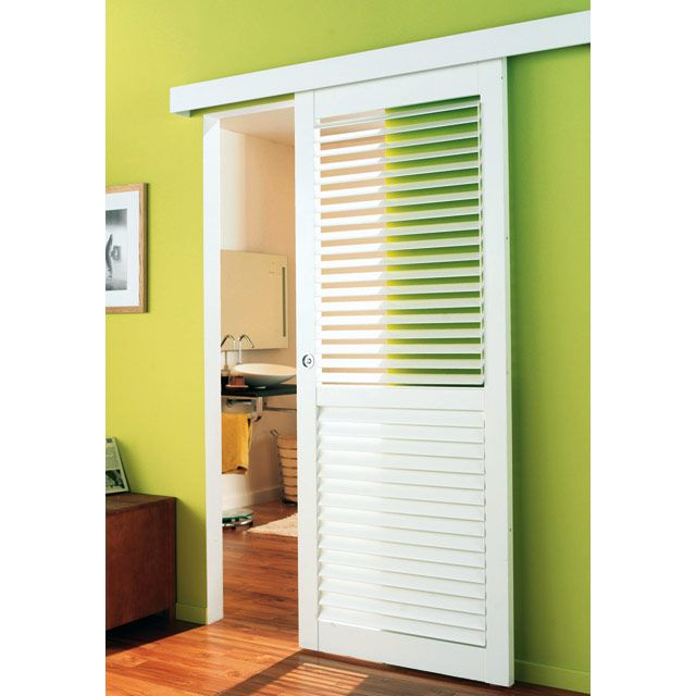 Porte Placard Coulissante Style Persienne Portes Placard Rf Pack - Porte coulissante persienne