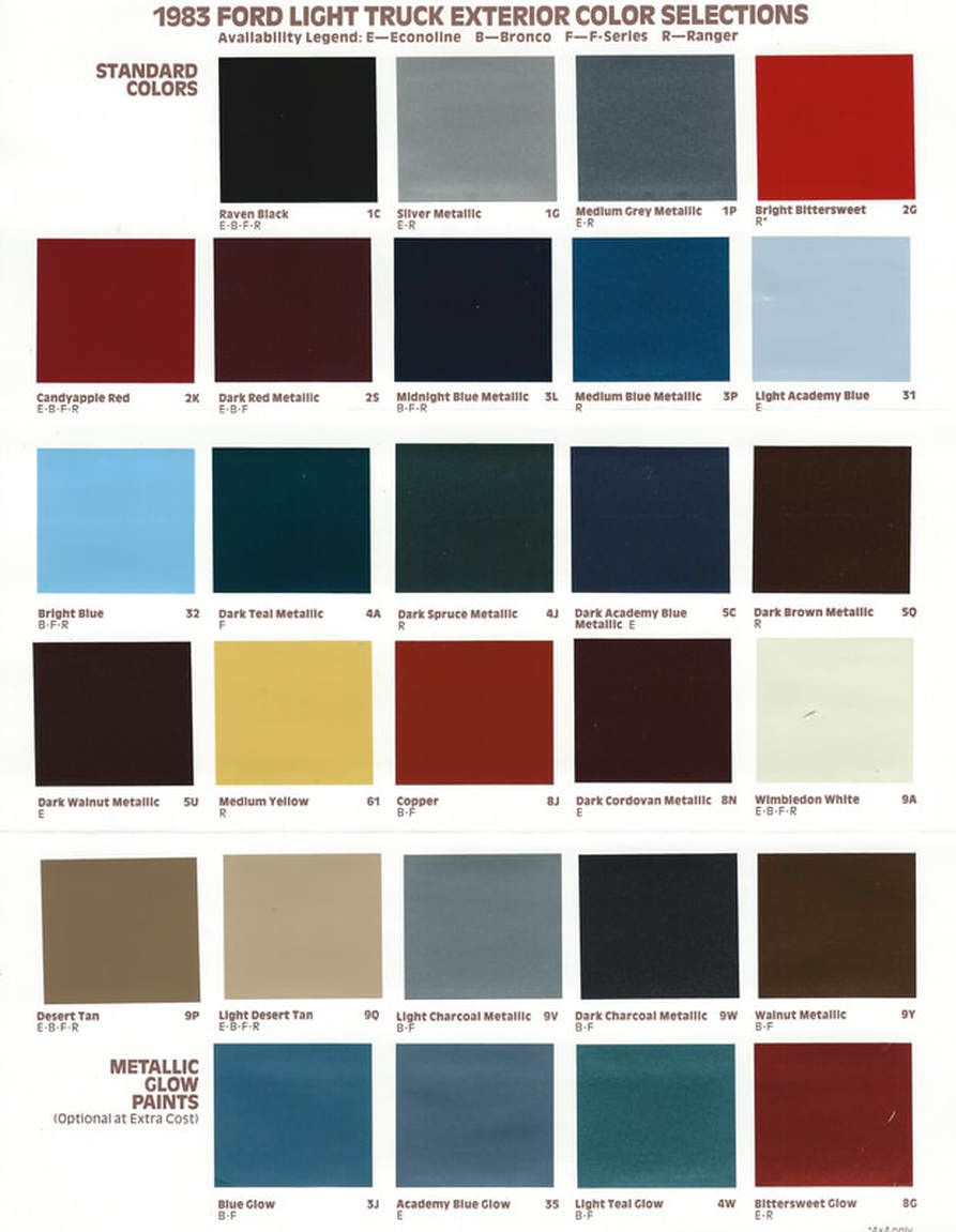 1996 Ford Paint Codes Boysen Wall Paint Colors 2020 In 2020 Wall Paint Colors Paint Color Chart Crown Paint Colours