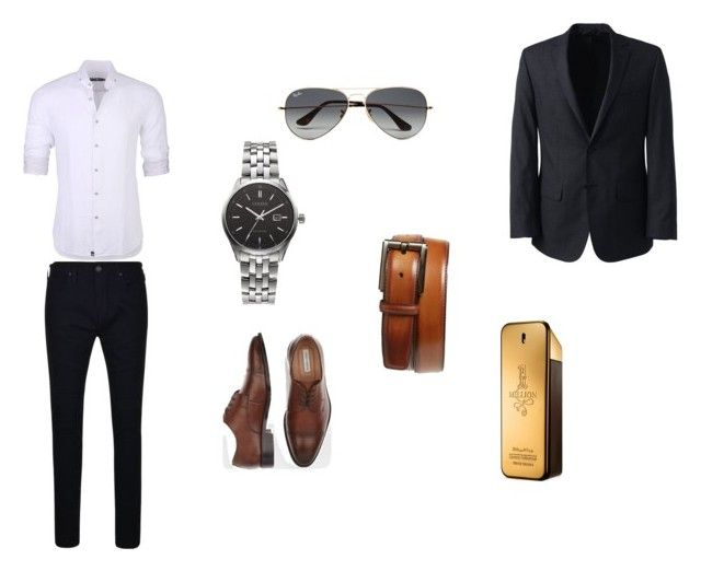 """""""set9"""" by mujo-ziba ❤ liked on Polyvore featuring True Religion, Stone Rose, Joseph Abboud, Citizen, Ray-Ban, Paco Rabanne, Magnanni, Lands' End, men's fashion and menswear"""
