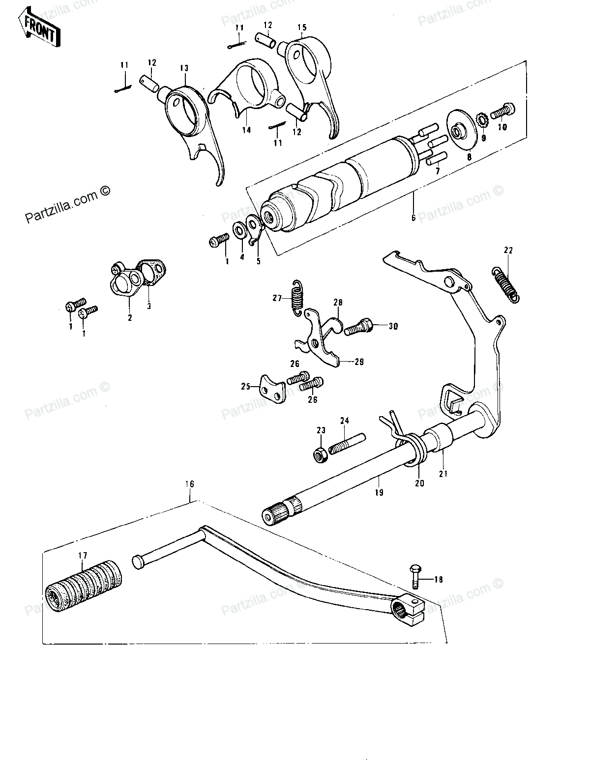 Diagram Of Kawasaki Motorcycle Parts Ke175 B3 Ke175