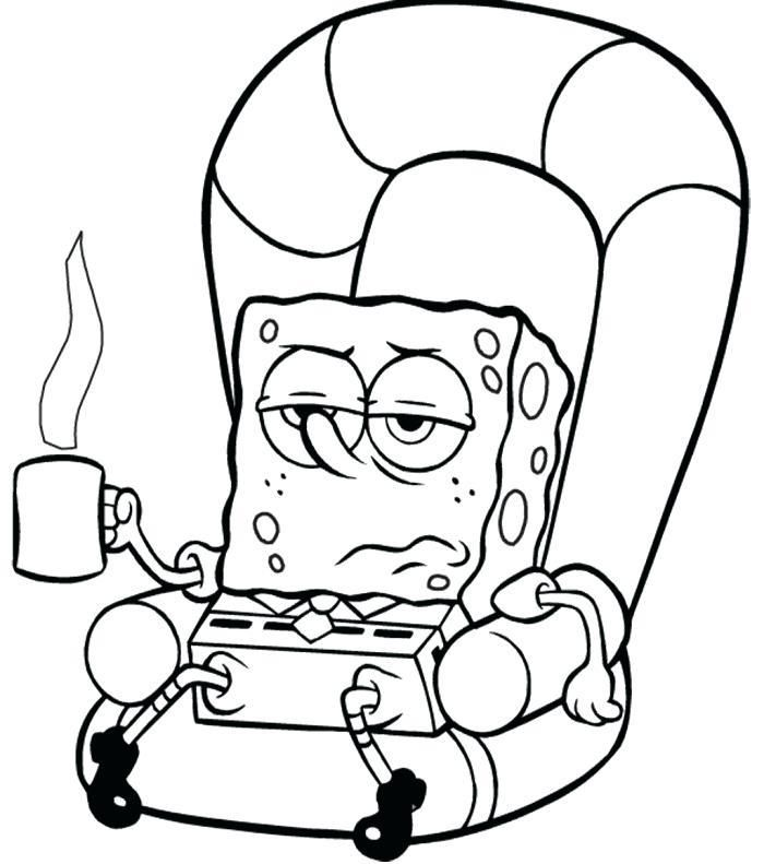 Sponge Bob Coloring Sheets Pages Free Online Sick Page