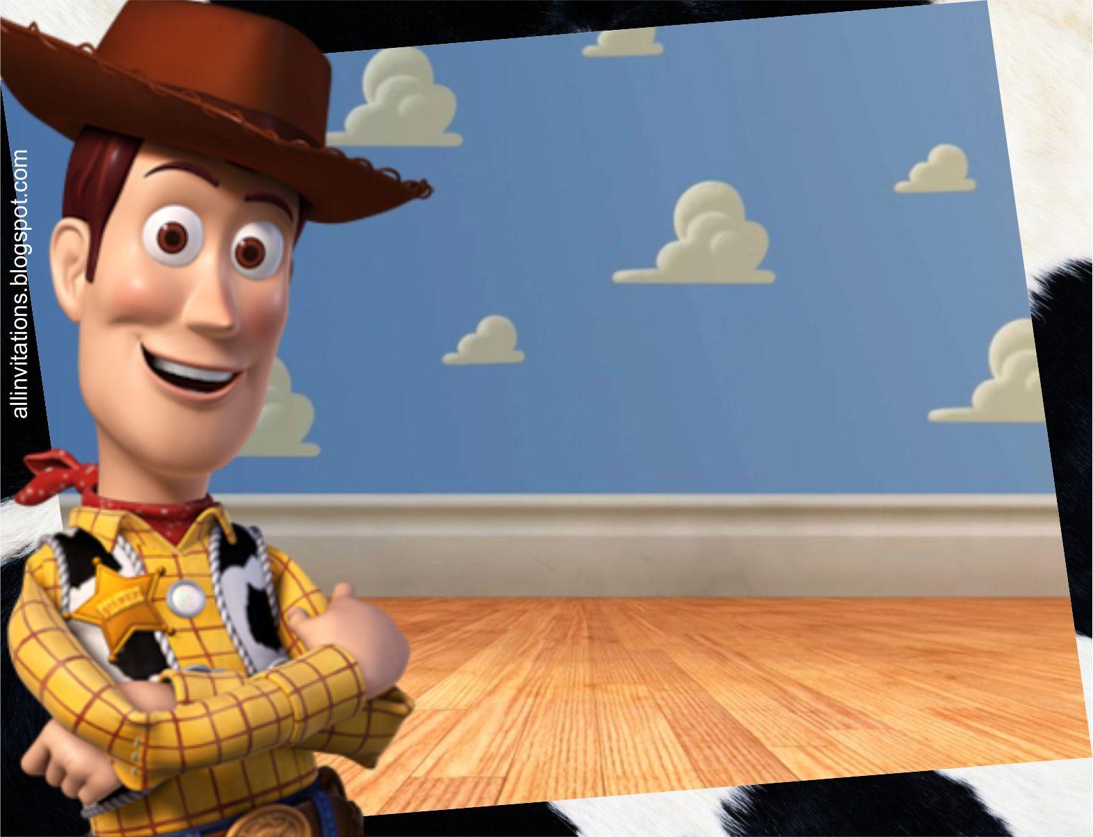 Plantilla Invitación De Woody Woody Toy Story Y