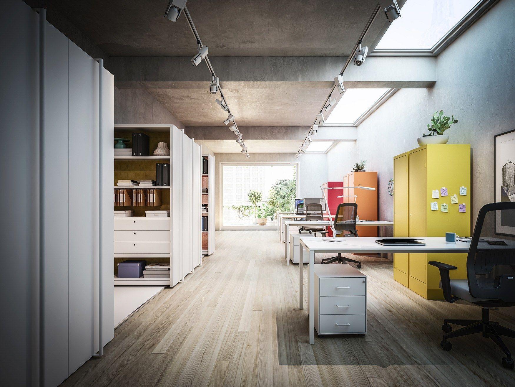 L ufficio può diventare qualcosa di più inserendo colore metallo