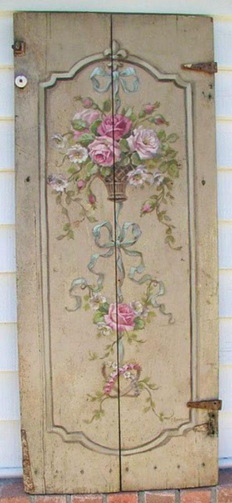 Pretty Vintage Floral Doors