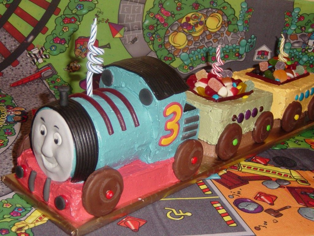 Easy to Make Train Cake how to make a thomas the tank engine kids
