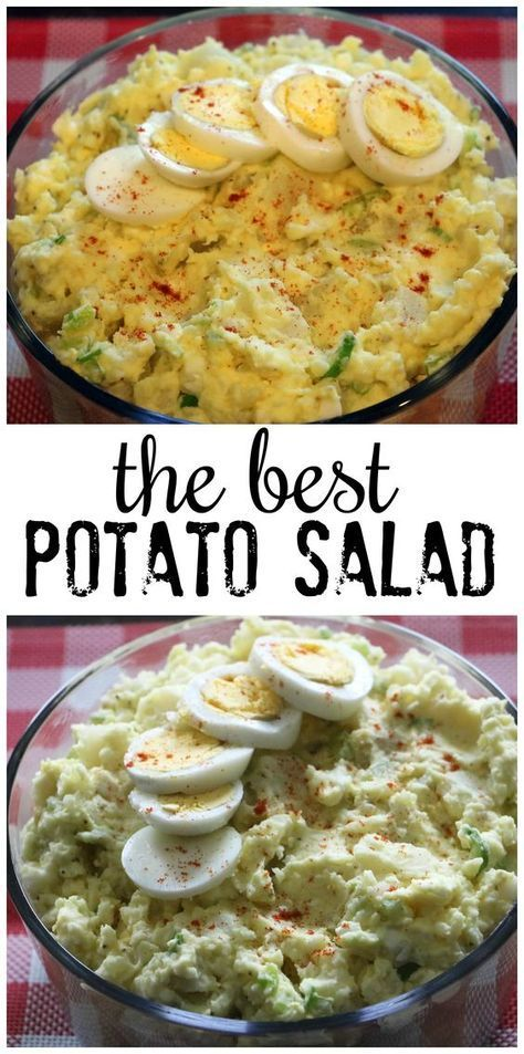 Classic American Potato Salad Recipe - Crafty Morning #potatosalad