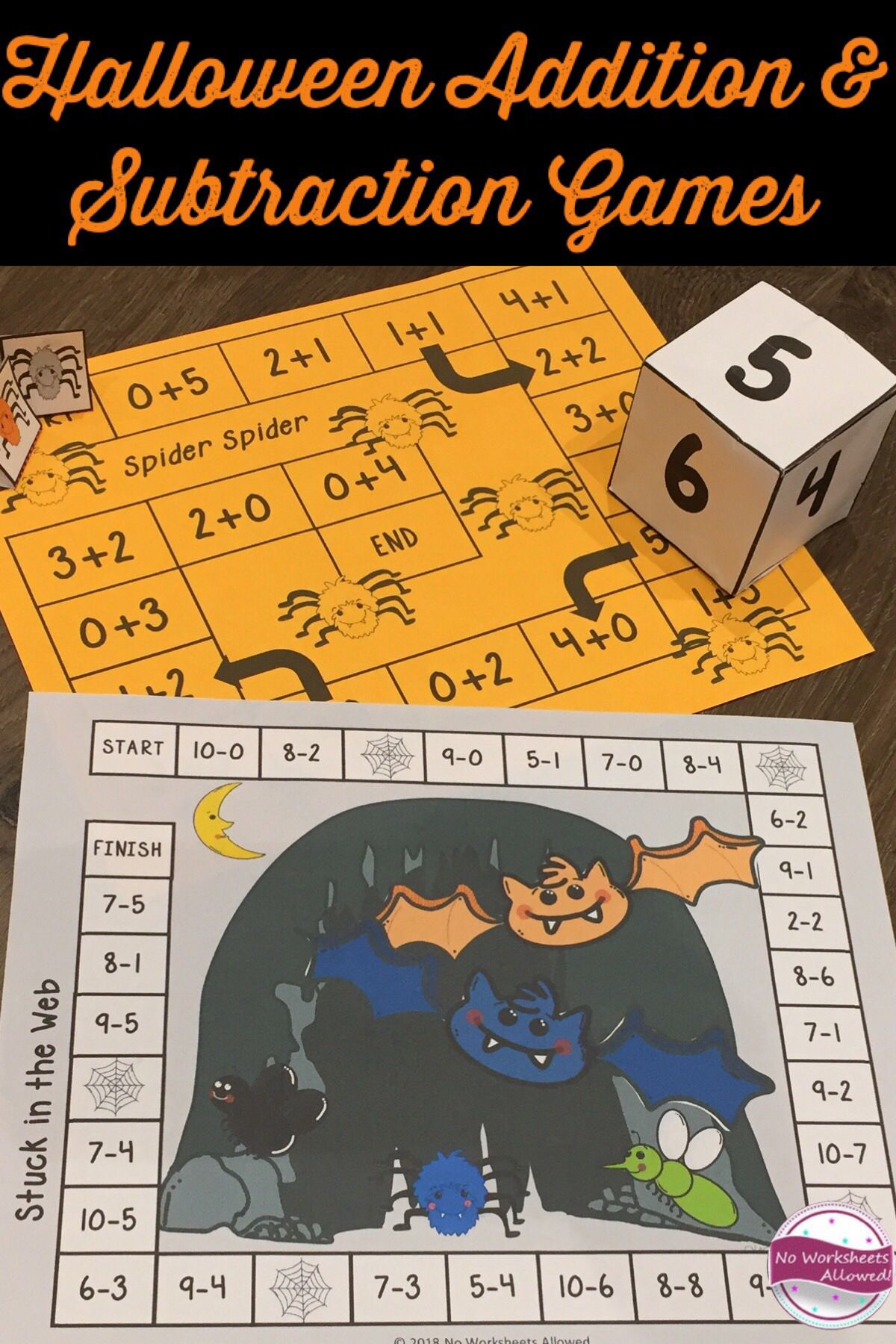 Halloween Addition And Subtraction Games Within 10