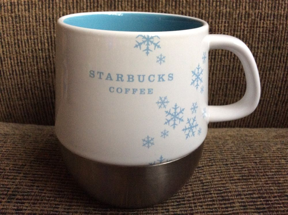 Ceramic And Stainless Steel With A No Slip Rubber Bottom In Gently Used Condition No Chips Nicks Cracks Or Re Starbucks Ceramic Mug Mugs Starbucks Coffee