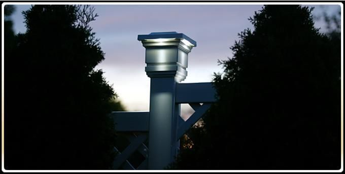 3 1 2 X 3 1 2 Low Voltage 6 Post Cap Kit In White Outdoor Post Lights Post Lighting Post Cap