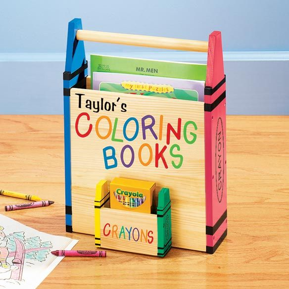 Coloring Book Caddy Personalized | Kids | Pinterest | Coloring ...