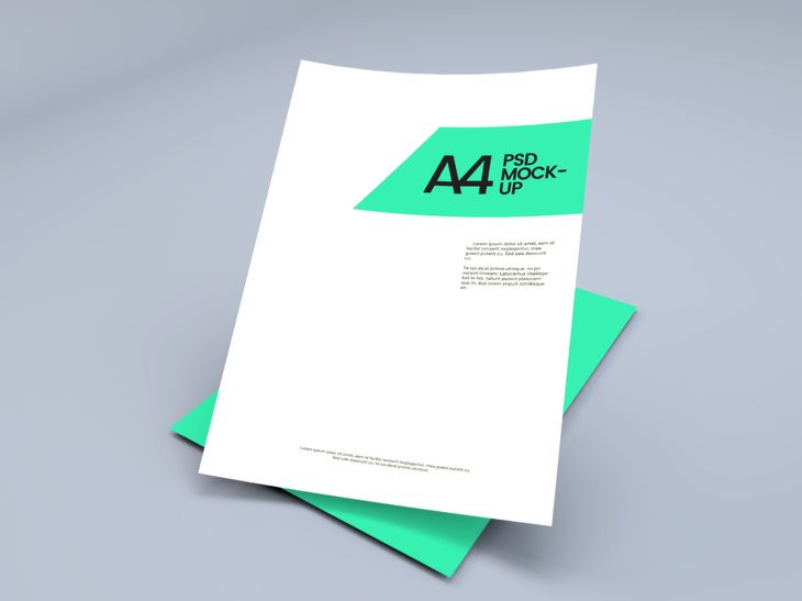 free a4 paper sheet mockup psd graphberry free photoshop mockup psd a4 paper sheet