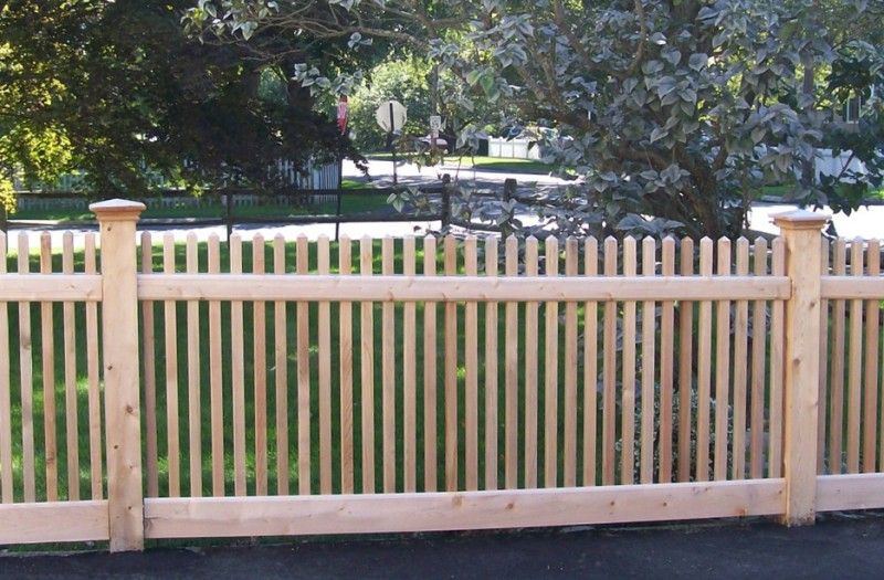 Picket Fences Installed By A Anastasio Fence Company Backyard Fences Wooden Fence Fence Design