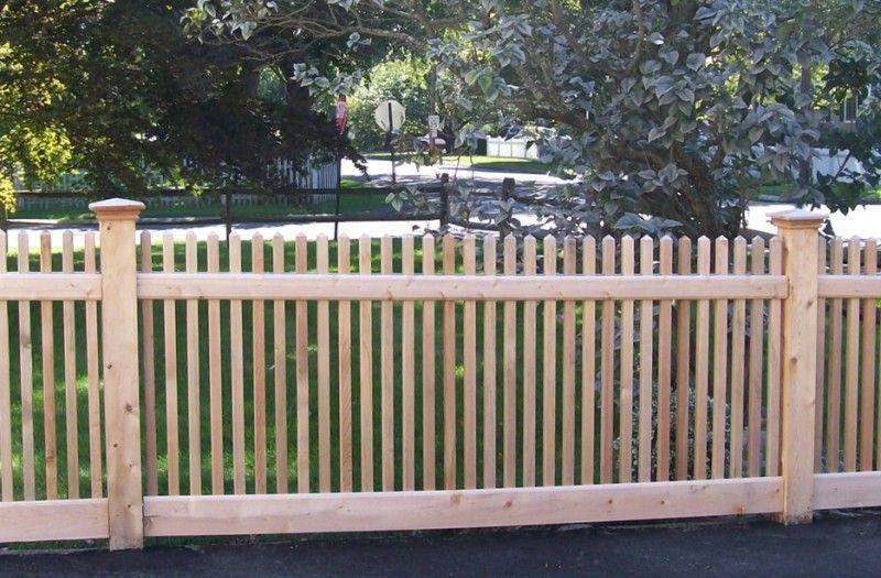 Picket Fences Backyard Fences Fence Design Wooden Fence