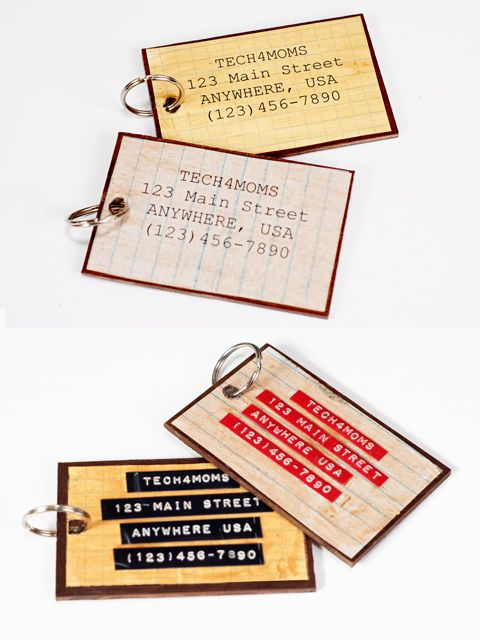 Name Tag And A Laptop Bag Tags