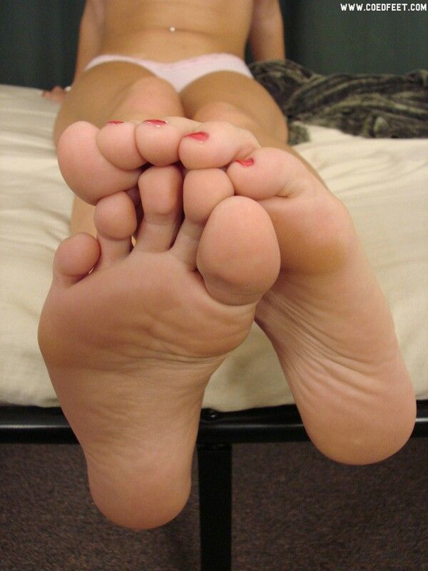 Frightened woman soles feet 44 years old