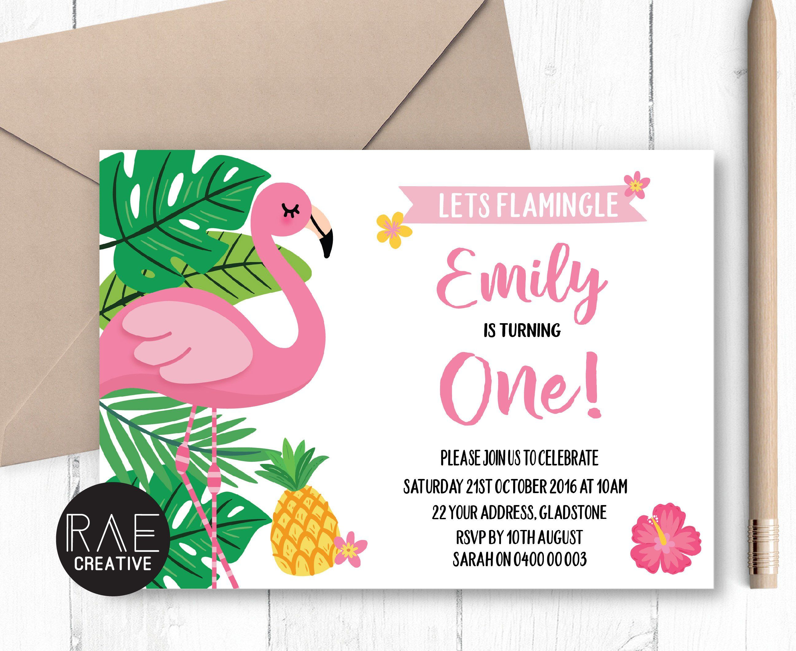 tropical flamingo 1st birthday party