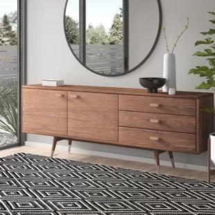 Modern Scandinavian Sideboards Allmodern In 2020 Sideboard Scandinavian Small Buffet Table Wood Buffet
