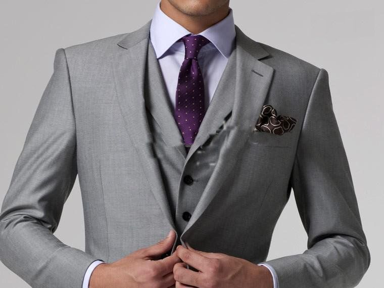 Light Grey Suit With Lavender Shirt Purple Tie Men 39 S