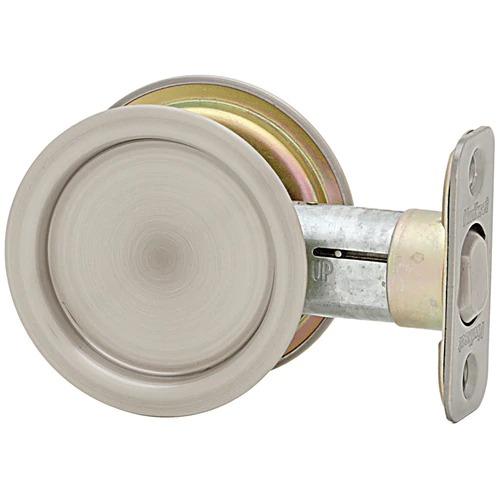 Shop Kwikset 2 1 8 In Nickel Passage Pocket Door Pull In The Pocket Door Pulls Section Of Lowes Com Pocket Door Lock Pocket Door Pulls Pocket Doors