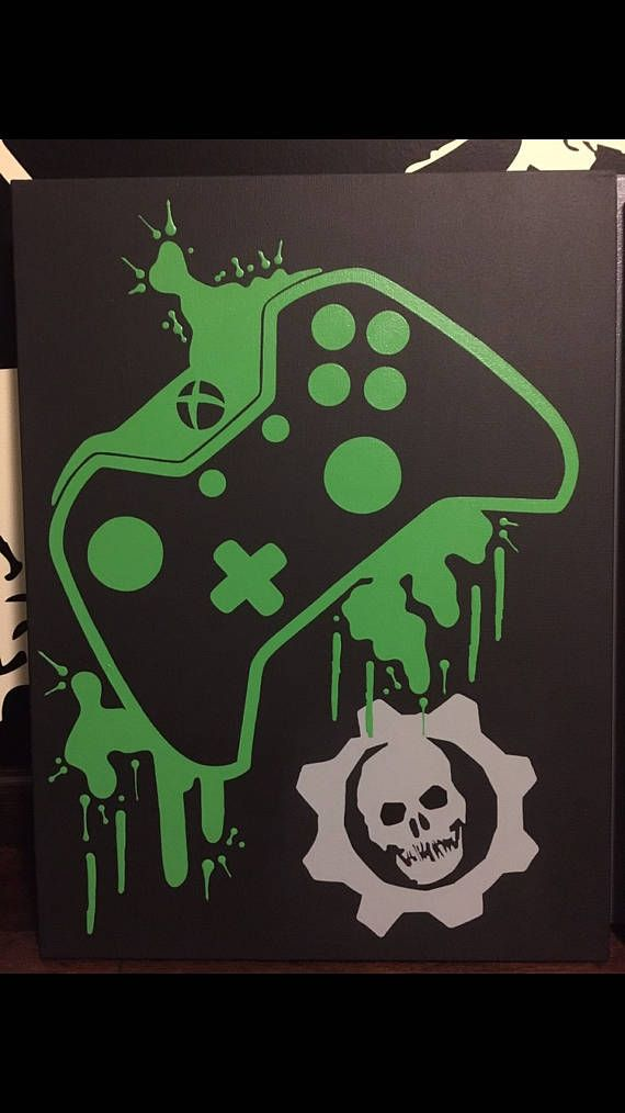 Xbox One Video Game Controller Painting, Video Game Art