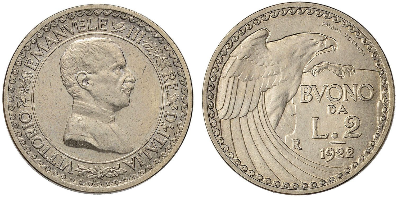 NumisBids: Nomisma Spa Auction 51, Lot 2491 : Vittorio Emanuele III (1900-1946) Progetto da 2 Lire 1922 Prova...