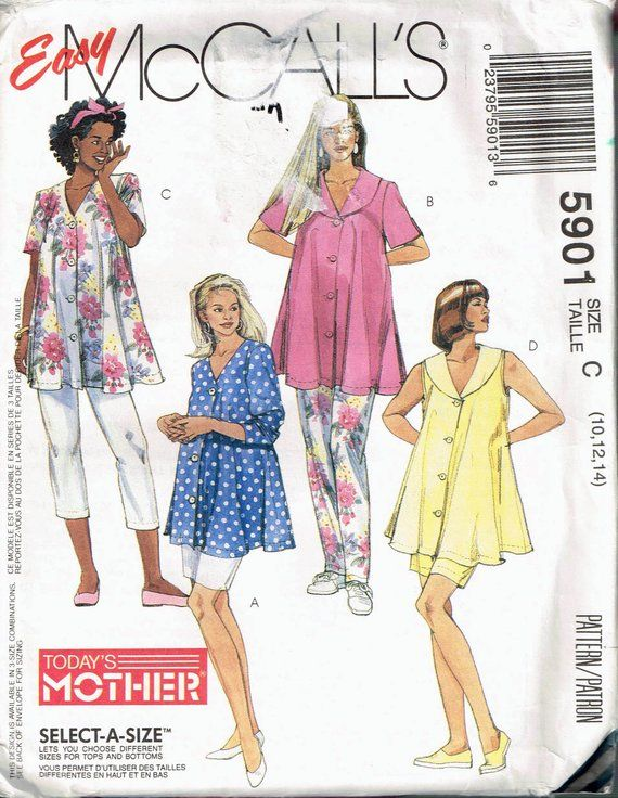 1357bbf8d1457 Size 10-14 Misses' Easy Maternity Top & Pants Sewing Pattern - Trapeze Top  Pattern - Maternity Blous