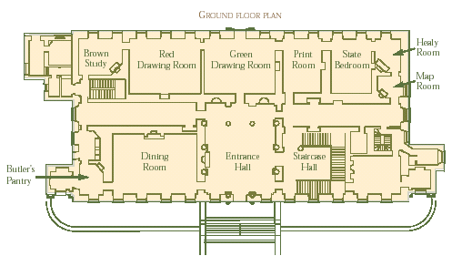 56 castletown ireland ground floor plan named for Cox plans