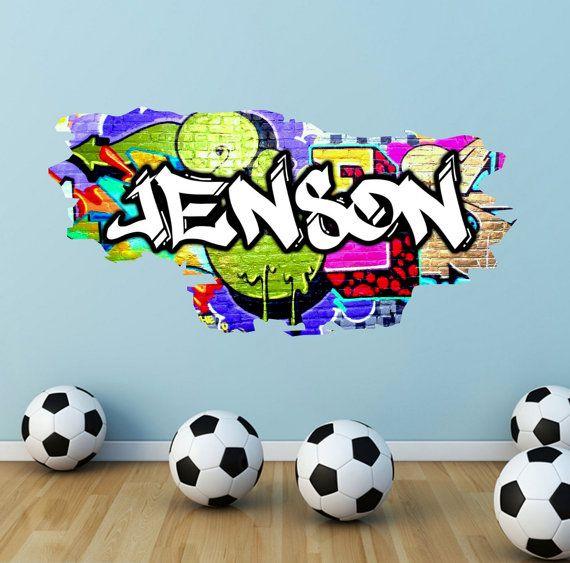 personalised custom graffiti name wall art stickers decor. Black Bedroom Furniture Sets. Home Design Ideas