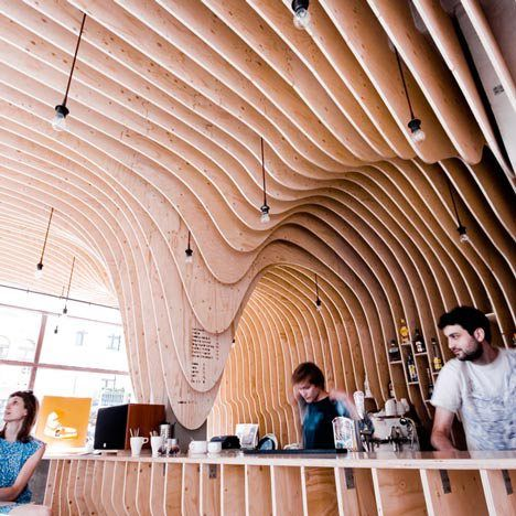 Wood Design News The Timber Stalactites Of An