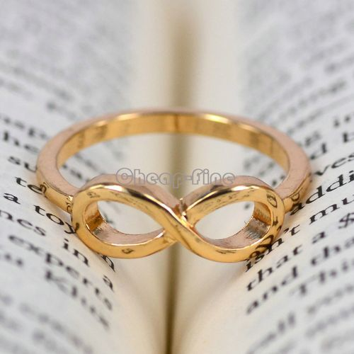 1pcs Gold Tone Stainless Steel Infinity Ring Bridesmaid Friendship Gifts | eBay