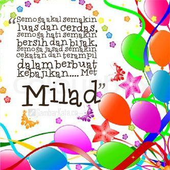 Gambar Ucapan Selamat Ulang Tahun Islami Ulang Tahun Kartu