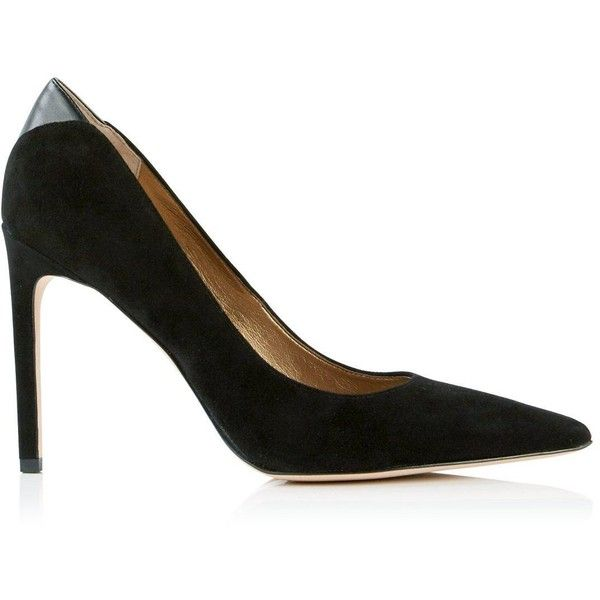 836d9cb16213c Sam Edelman Dea Suede High Heel Court Shoes ($200) ❤ liked on Polyvore  featuring shoes, pumps, black, spiked heel pumps, evening shoes, black  suede pumps, ...