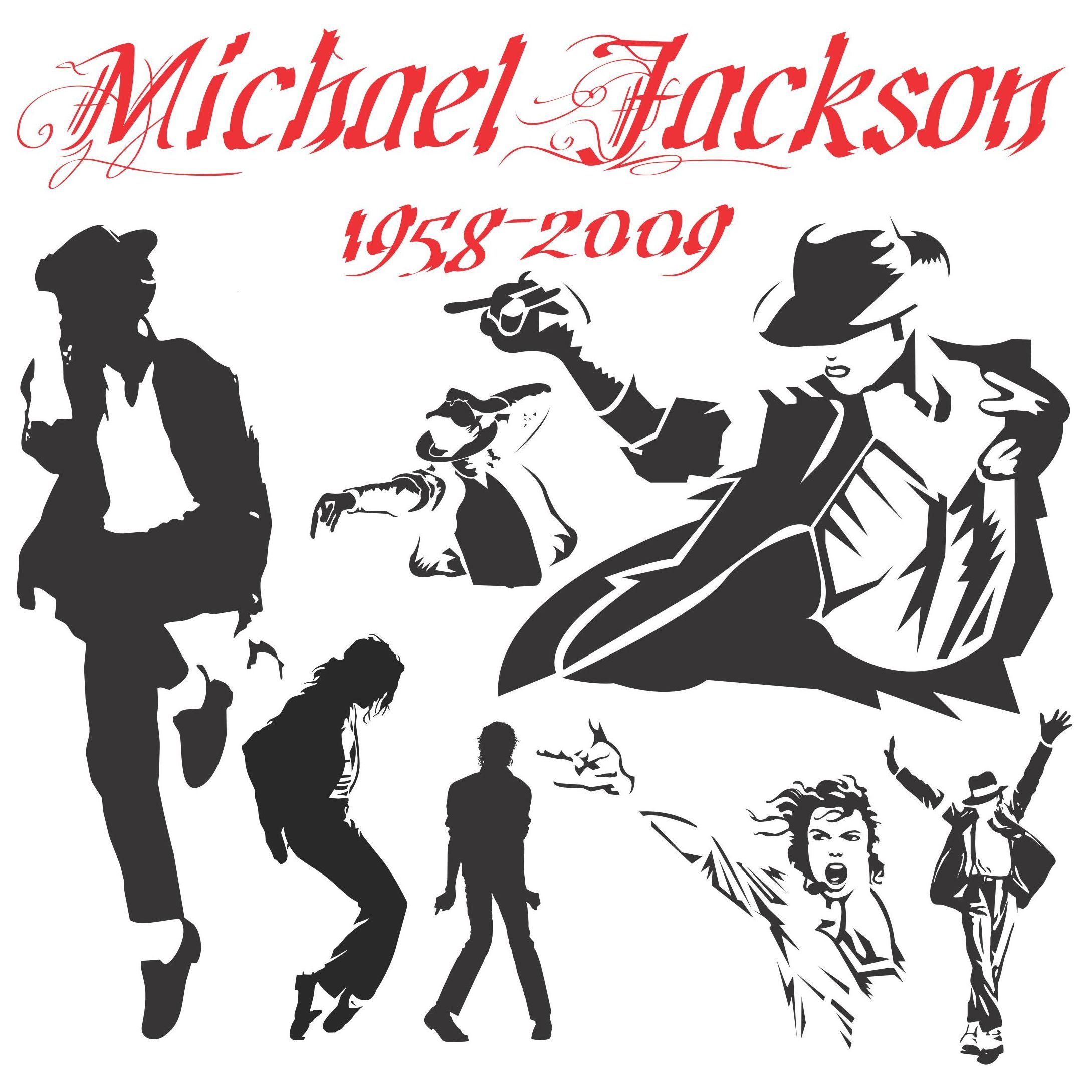 michael jackson silhouettes eps file