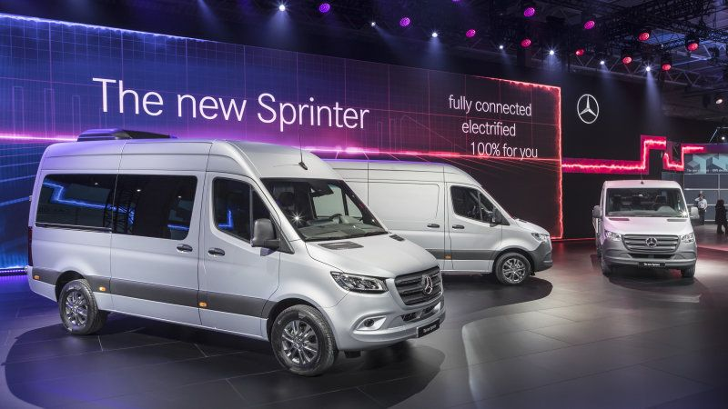 2019 Mercedes Benz Sprinter Vans Are Revealed With An Electric