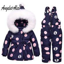 88fe9781fcd9 Angela Alex Winter Baby Girls Clothing Sets Children Down Jackets ...