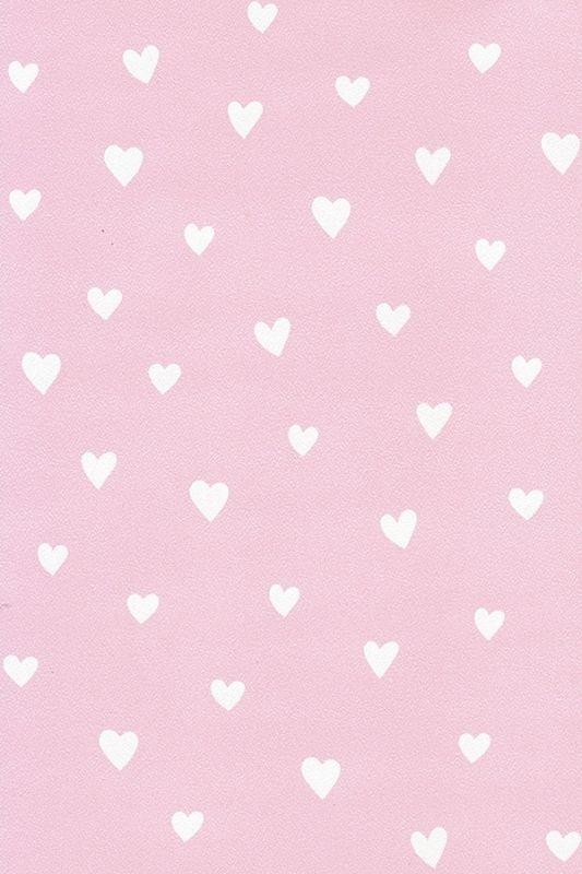Behang kinderkamer roze met witte hartjes van inke hip kinderbehang van inke pinterest room - Roze kinderkamer ...