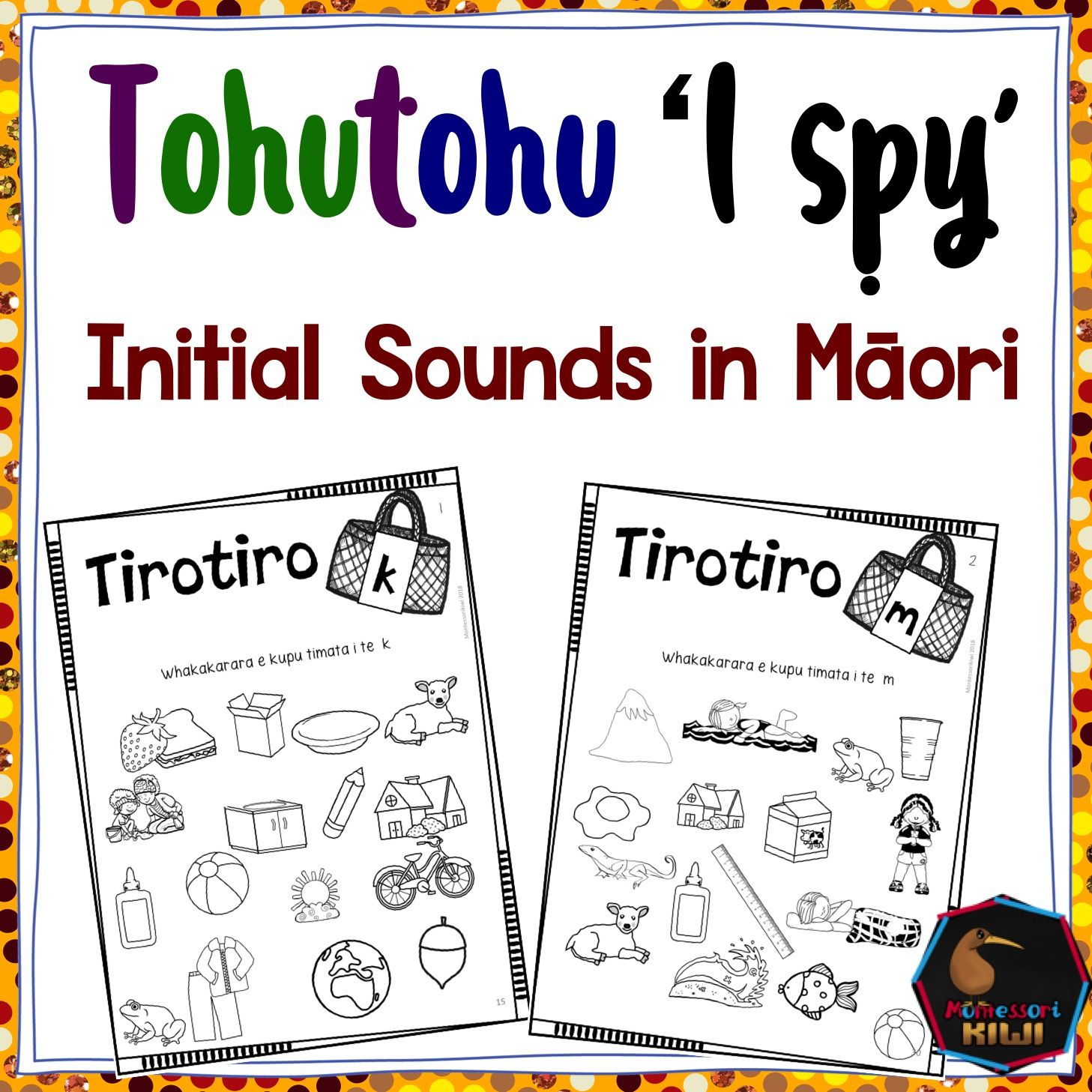 I Spy Worksheet For Each M Ori Sound Help Your Students Learn Basic Nouns And Verbs All The