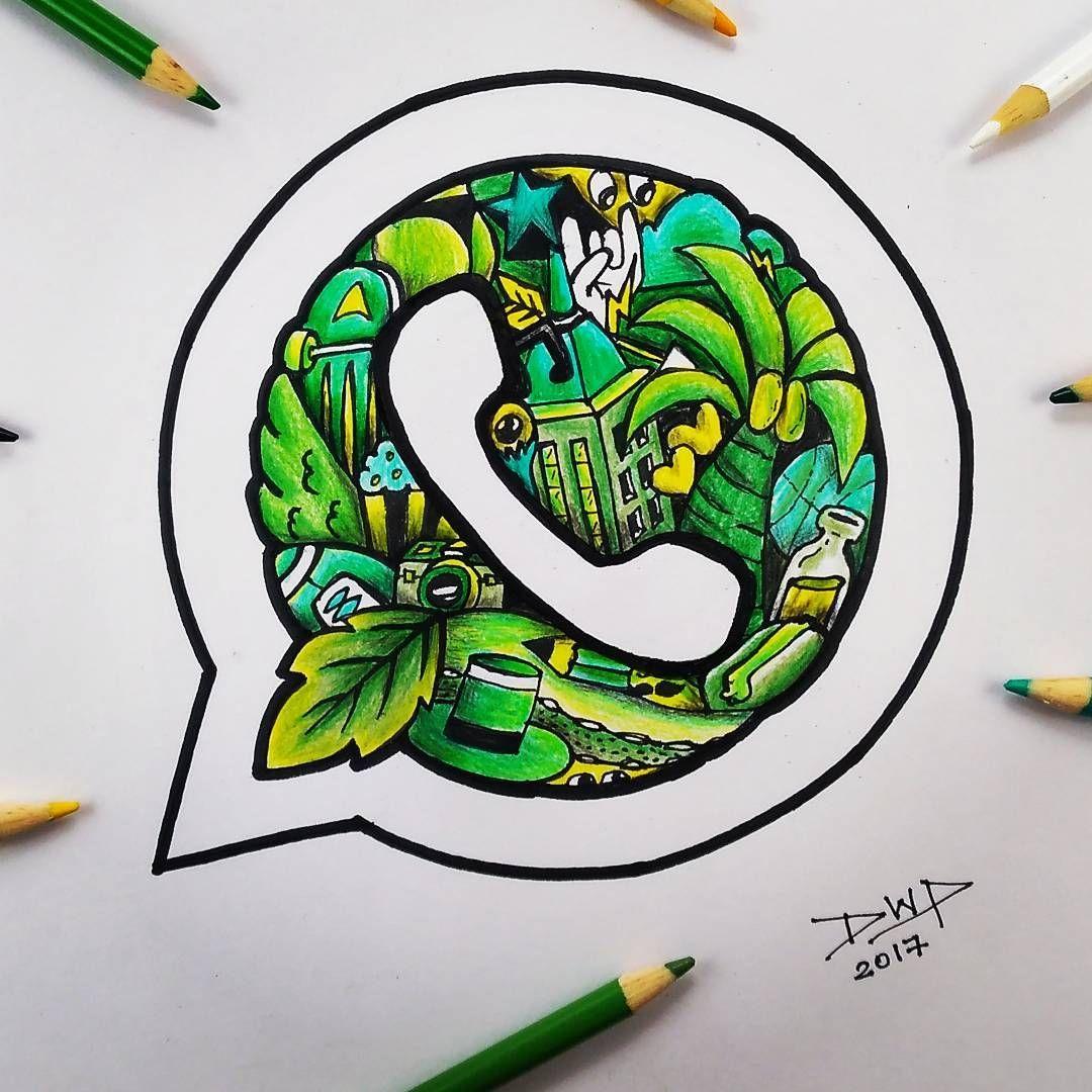 Whatsapp Doodle Logo in 2020 Doodle art designs