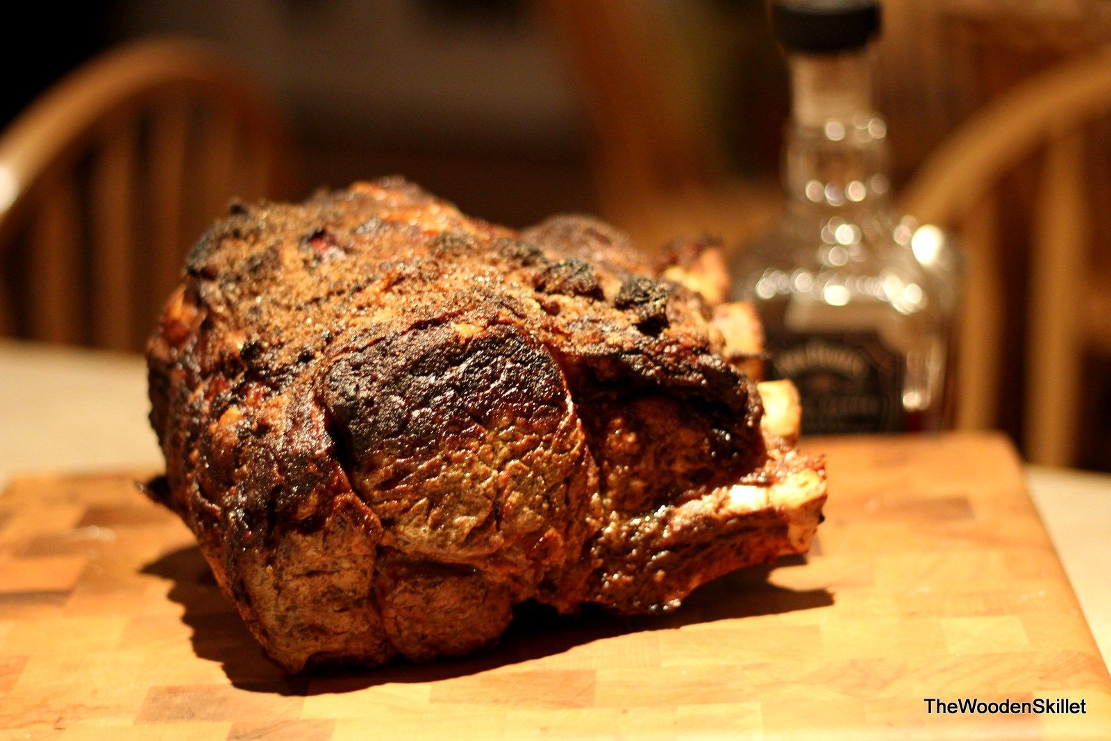 Salt and Pepper Crusted Standing Rib Roast - The Wooden Skillet. thewoodenskillet.com