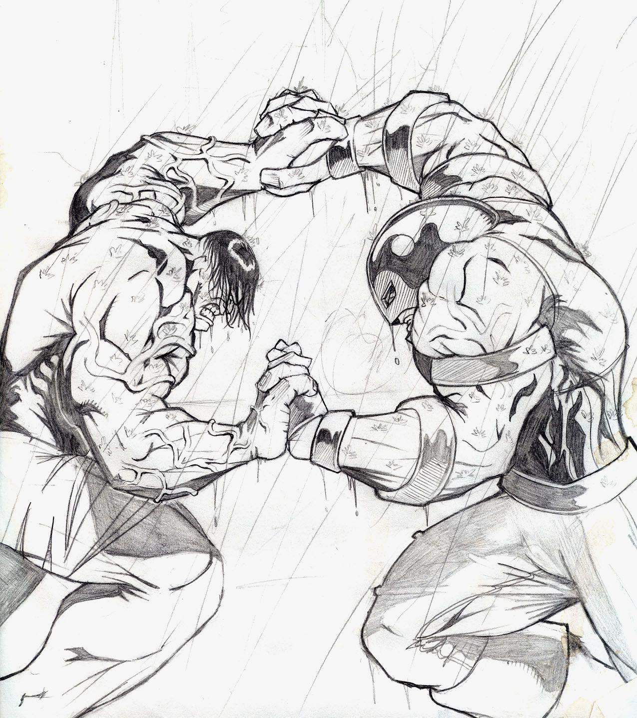 Hulk V Juggernaut 1st Pencils By Evaklear Hulk Art Hulk Marvel Marvel Fight