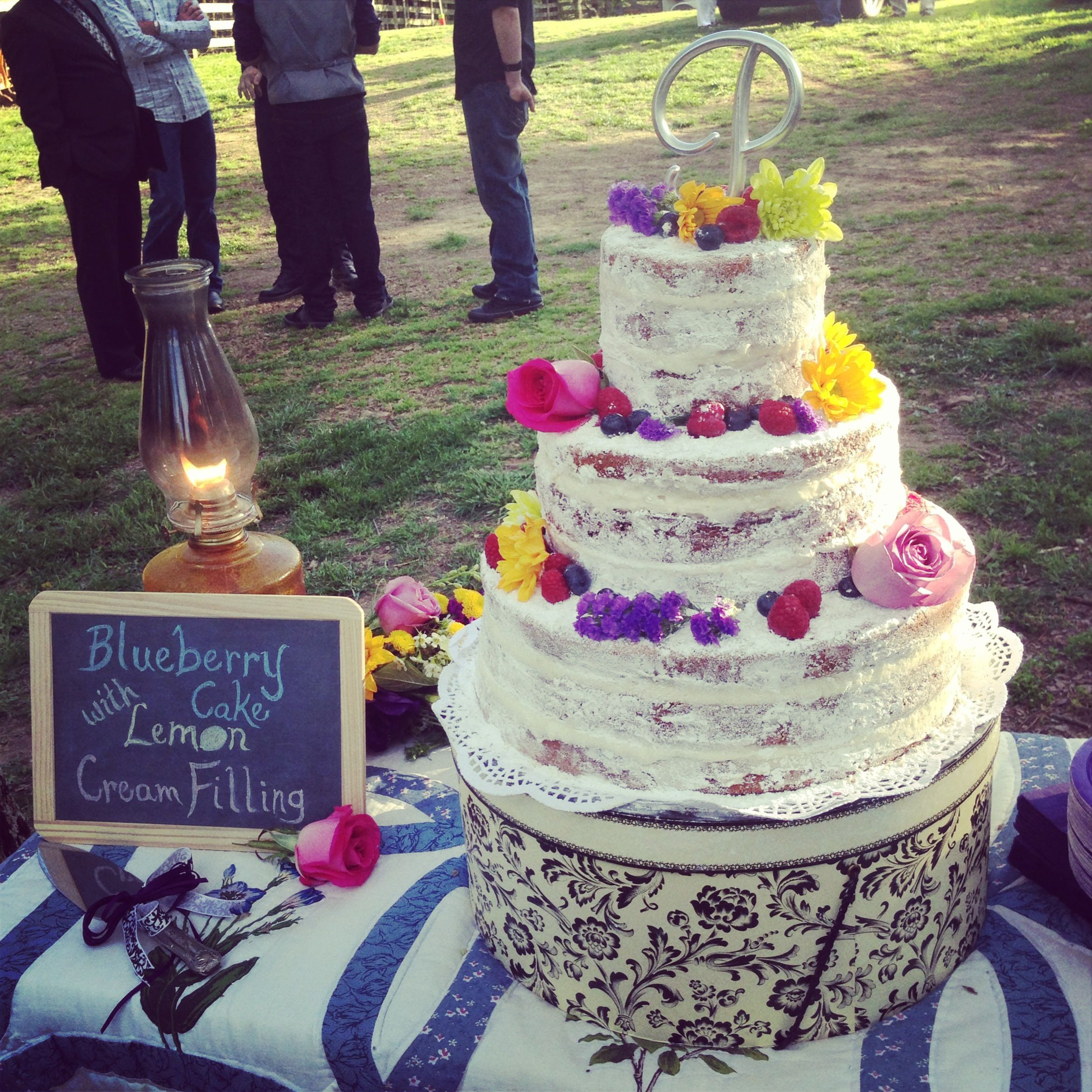 Rustic Wedding Cake: My Rustic Wedding Cake Masterpiece. I Made This For My Mom