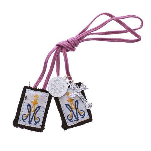 Ave Maria Insignia Pink Scapular