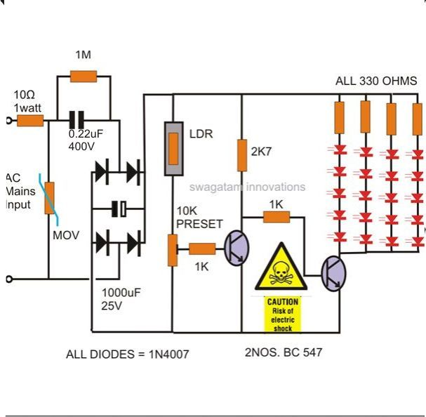 image result for 1w 25 led lights driver circuit electronics diy rh pinterest com led panel light driver circuit diagram 18 watt led tube light driver circuit diagram