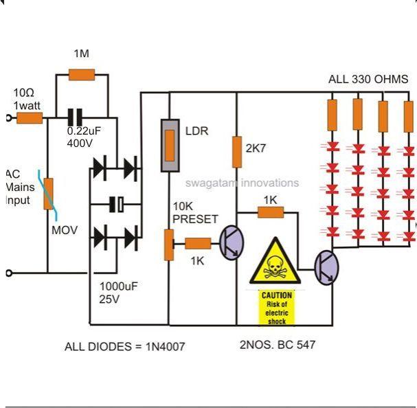 52d9ad18e00866a9a15c43eab7d7bae7 image result for 1w 25 led lights driver circuit electronics diy