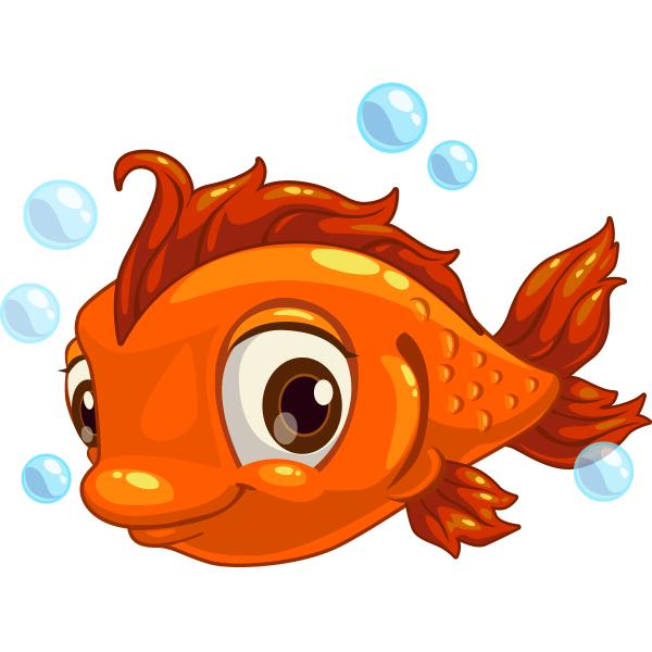 Adorable Fish Cartoon Fish Cartoon Clip Art Animal Icon