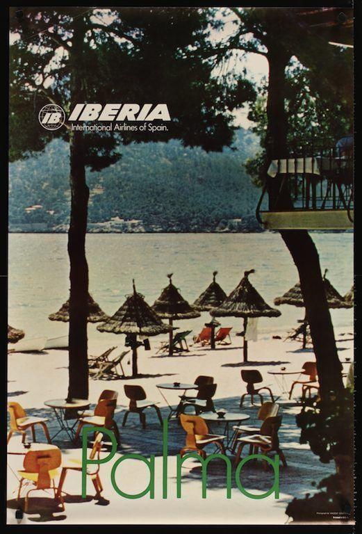 iberia #vintage 1967 #travel poster spain airlines palma  -> Vintage Möbel Palma De Mallorca